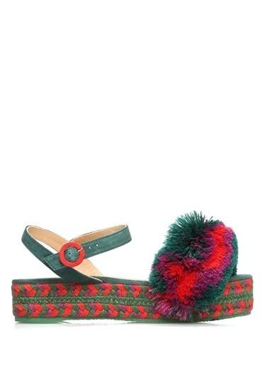 Castaner %100 Kumaş Sandalet Renkli
